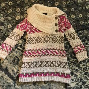 Gap sweater dress fair isle 2t